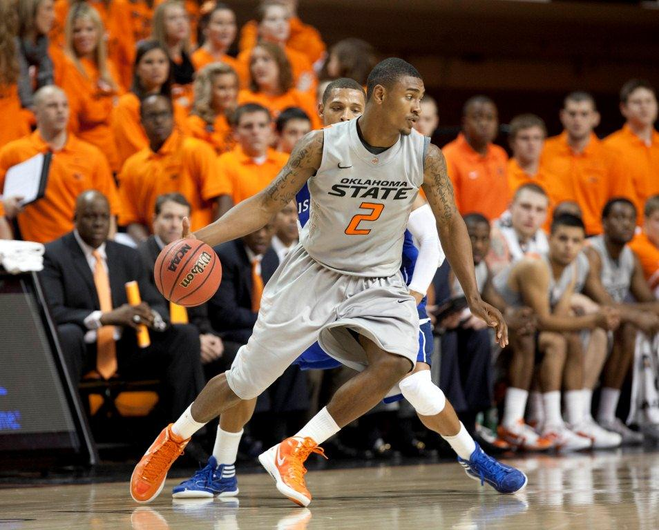 Nov 11 2011 Stillwater OK USA Oklahoma State Cowboys guard Le 039 Bryan Nash 2 dribbles in the 2nd half against Texas A amp M CC at Gallagher Iba Arena. Mandatory Credit Richard A. Rowe US PRESSWIRE