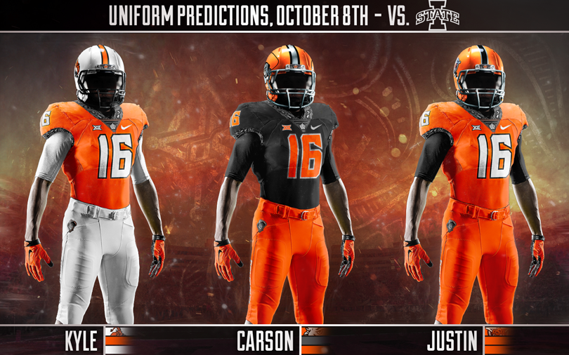 Bowl Games 2017 18 >> Uniform Prediction: Iowa State-Oklahoma State | Pistols Firing