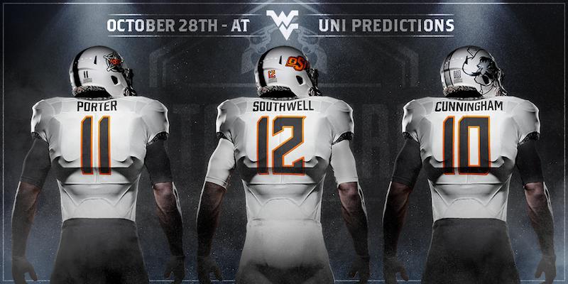 Uniform Predictions Oklahoma State West Virginia Pistols