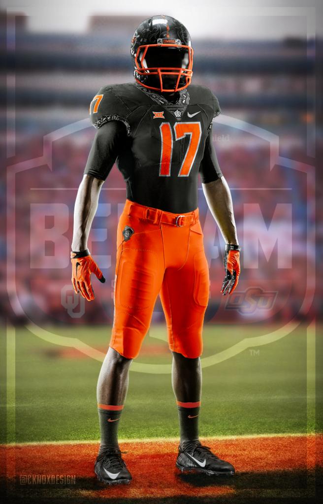 orange and black football jersey