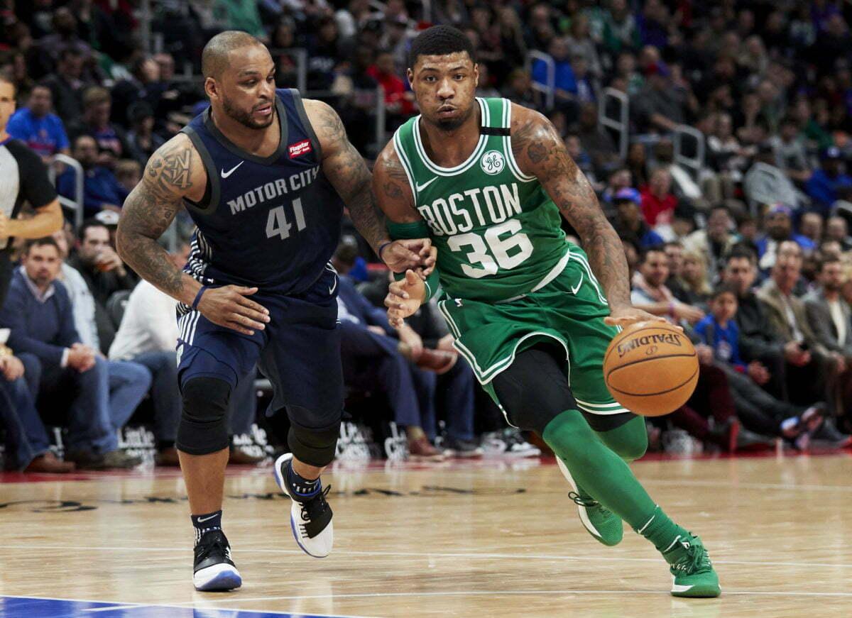 cheap for discount 5d4f7 7fa0e NBA Roundup: Marcus Smart Returns | Pistols Firing