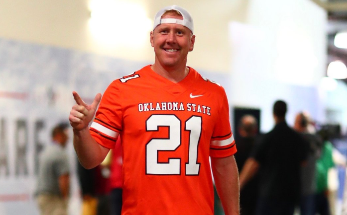 new arrival bb44a 57c35 Photos: Brandon Weeden Wears Vintage Barry Sanders Gear for ...