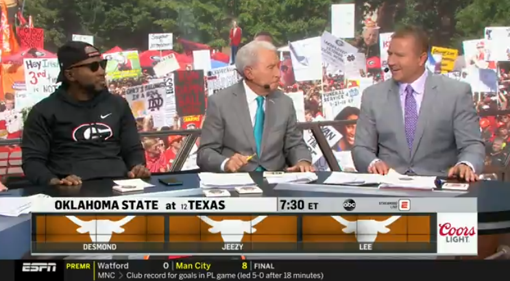 College GameDay Crew Unanimously Picks Texas to Beat Oklahoma State | Pistols Firing