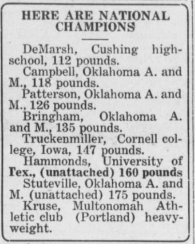 1925 AAU Champions