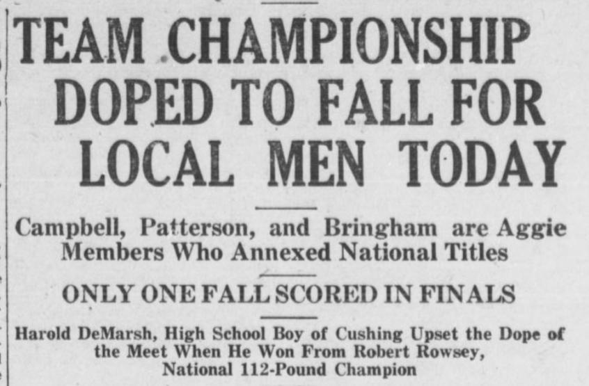 1925 AAU Headline